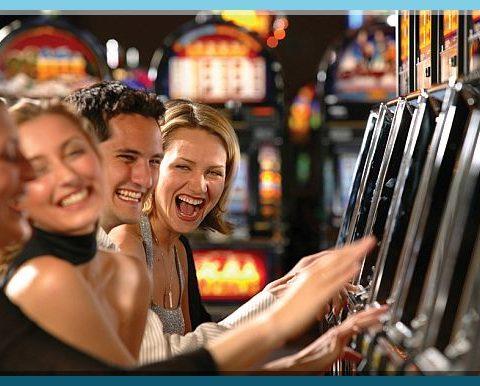 Slot machines are popular in casinos.